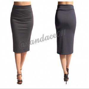 Pencil Skirt (Dark Grey)